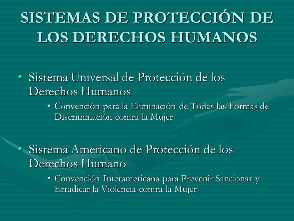 SISTEMAS DE PROTECCIÓN DE LOS DERECHOS HUMANOS