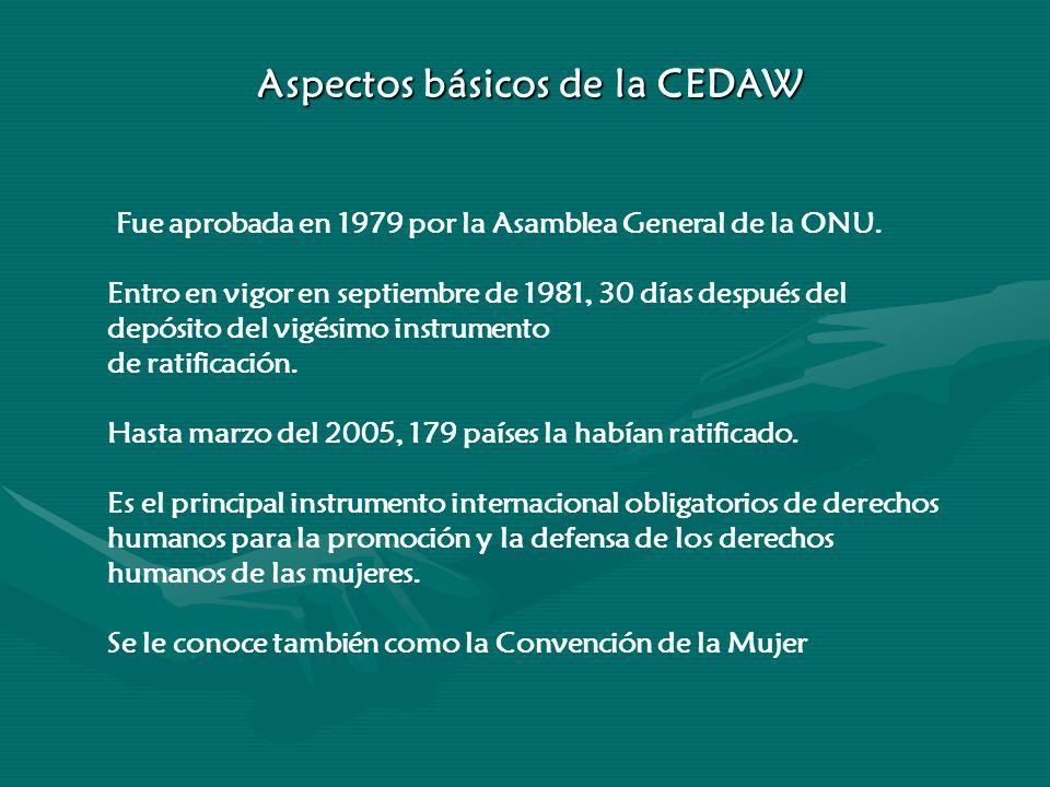 Aspectos básicos de la CEDAW