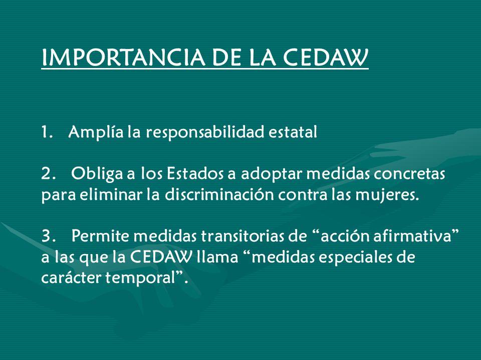 IMPORTANCIA DE LA CEDAW