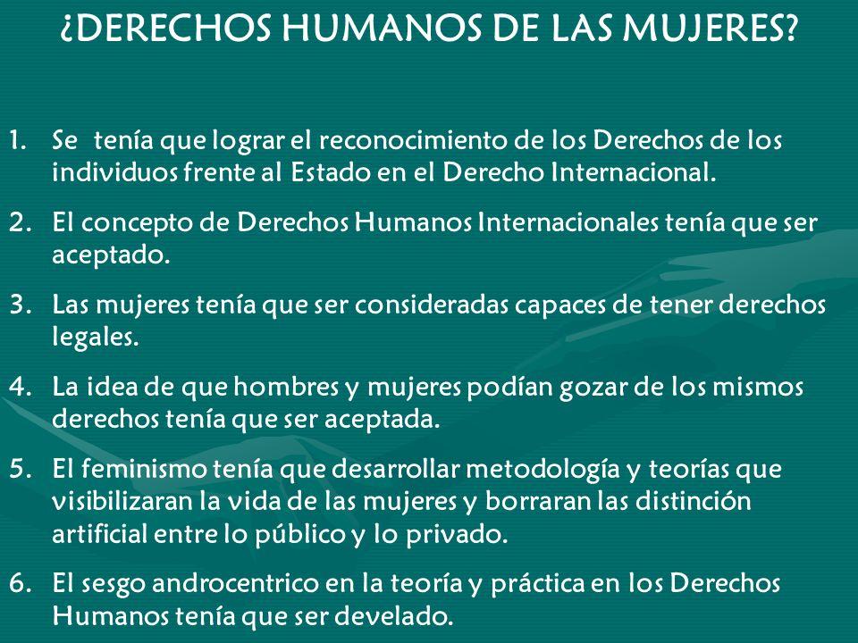 ¿DERECHOS HUMANOS DE LAS MUJERES