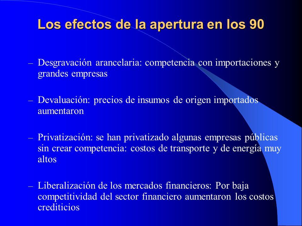 Los efectos de la apertura en los 90