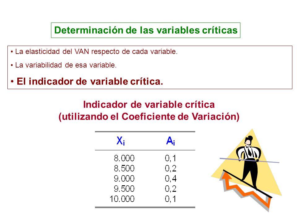 Determinación de las variables críticas