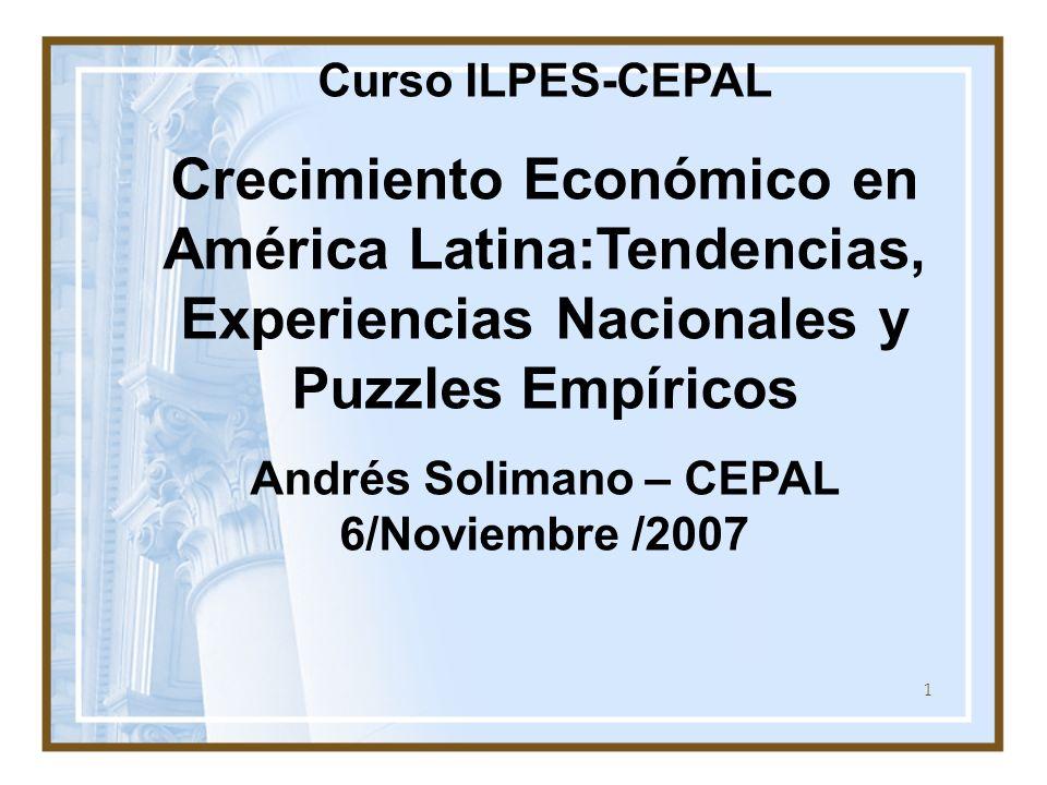 Andrés Solimano – CEPAL 6/Noviembre /2007