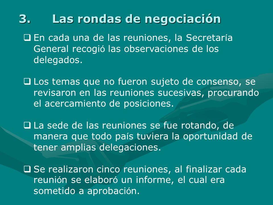 Las rondas de negociación