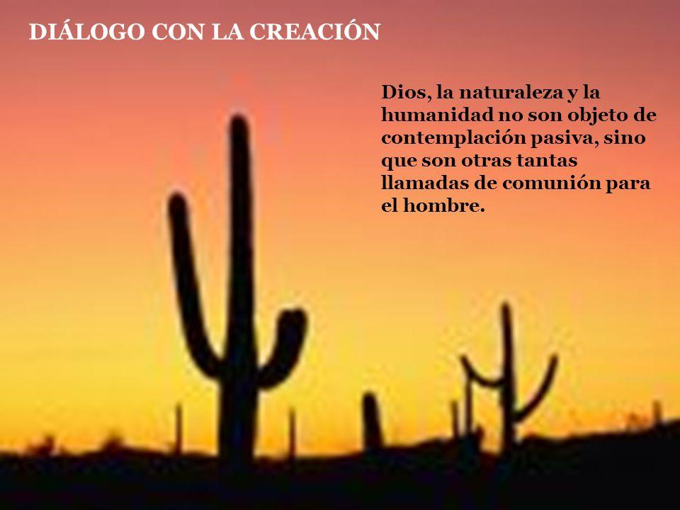 DIÁLOGO CON LA CREACIÓN