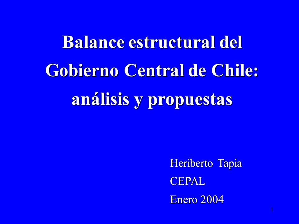 Balance estructural del Gobierno Central de Chile: análisis y propuestas
