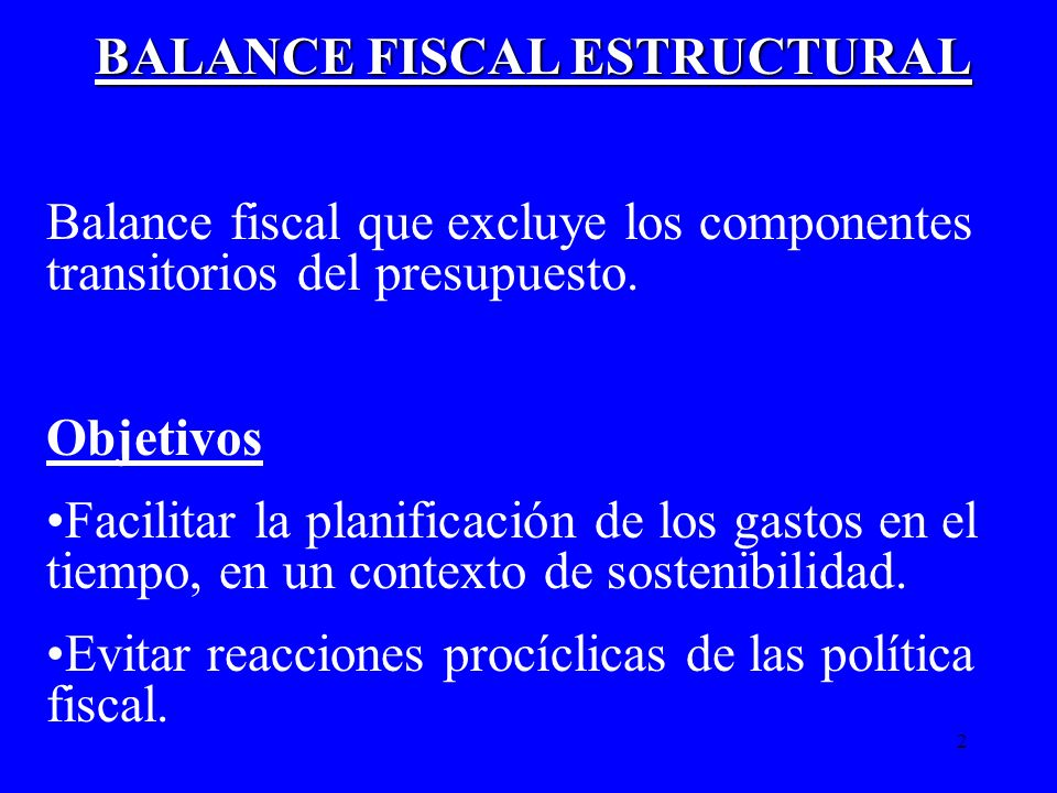 BALANCE FISCAL ESTRUCTURAL