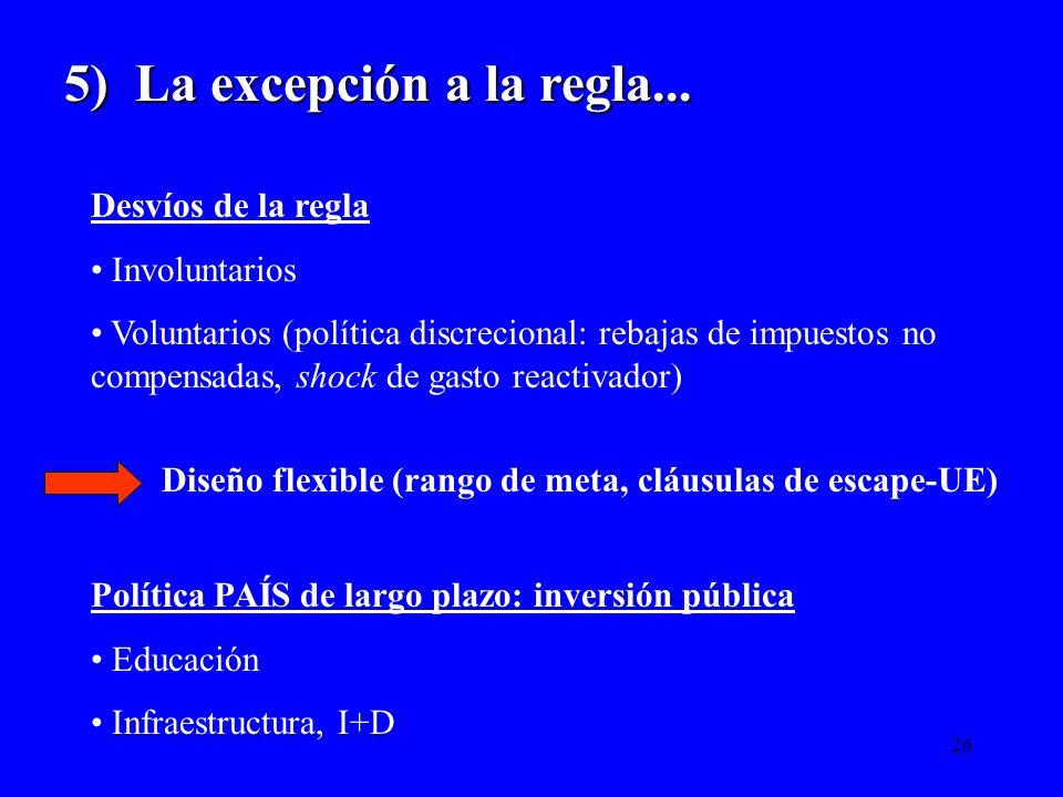 5) La excepción a la regla...