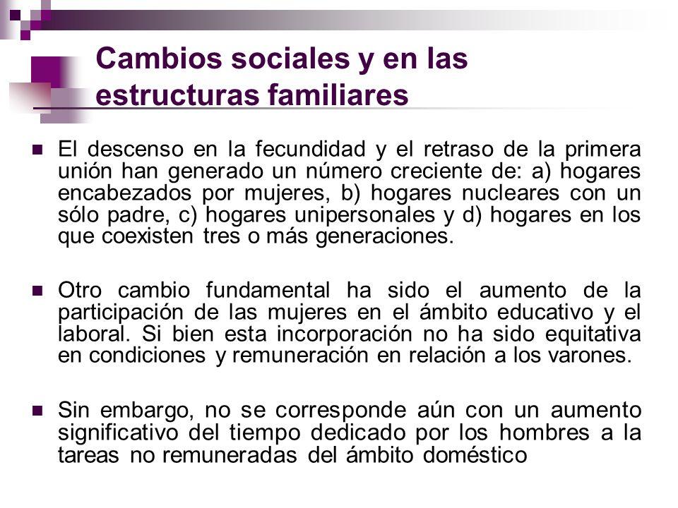 Cambios sociales y en las estructuras familiares