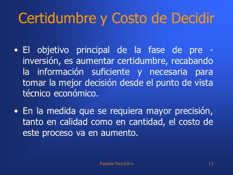 Certidumbre y Costo de Decidir
