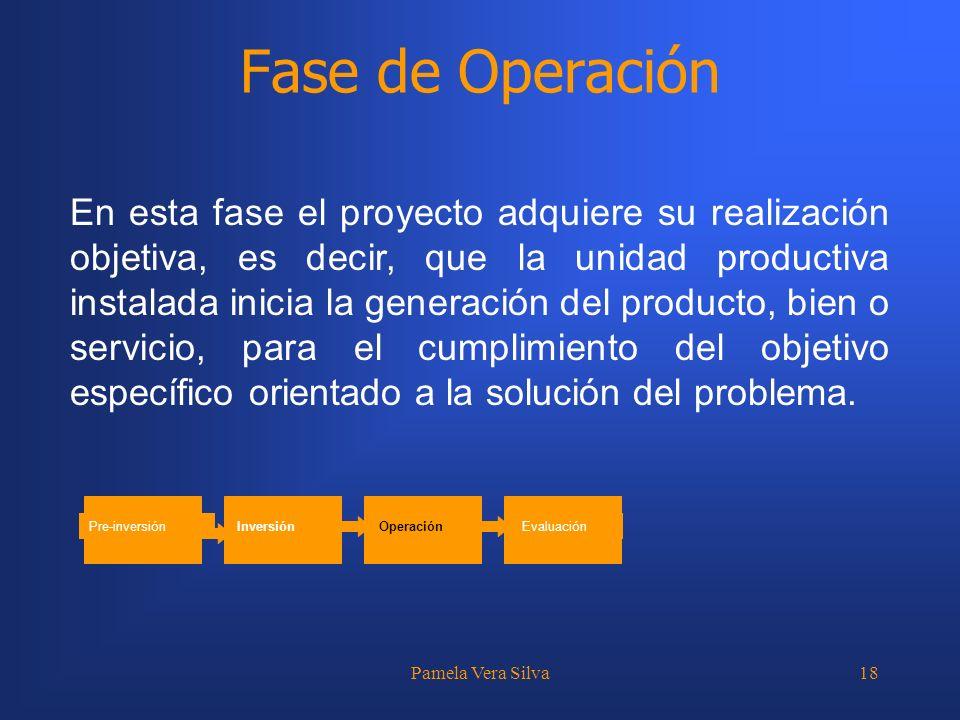 Fase de Operación