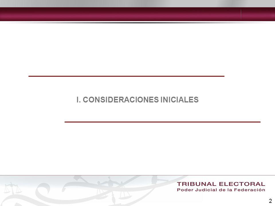 I. CONSIDERACIONES INICIALES