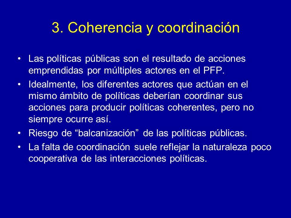 3. Coherencia y coordinación