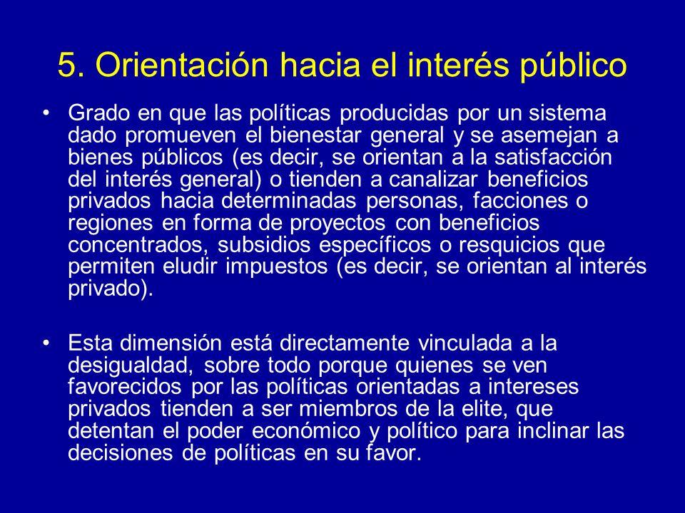 5. Orientación hacia el interés público