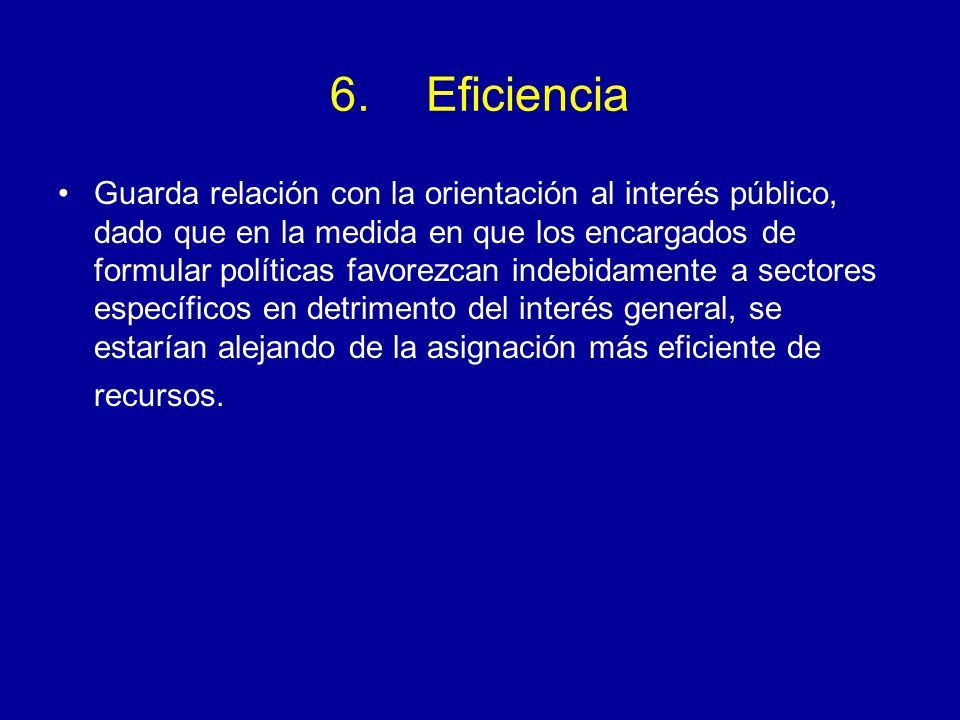 6. Eficiencia