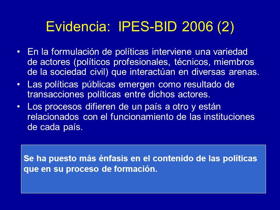 Evidencia: IPES-BID 2006 (2)