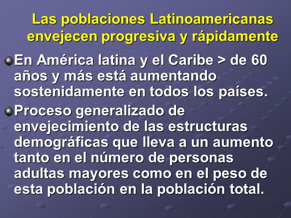 Las poblaciones Latinoamericanas envejecen progresiva y rápidamente