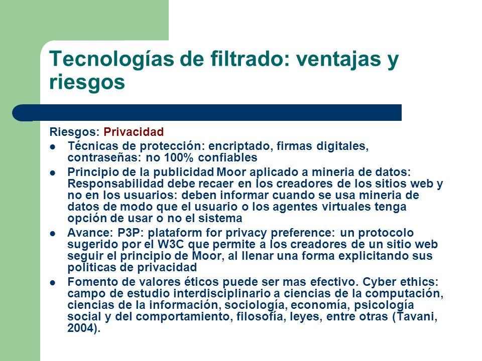 Tecnologías de filtrado: ventajas y riesgos