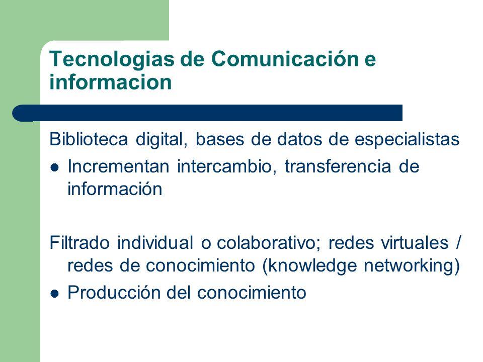 Tecnologias de Comunicación e informacion
