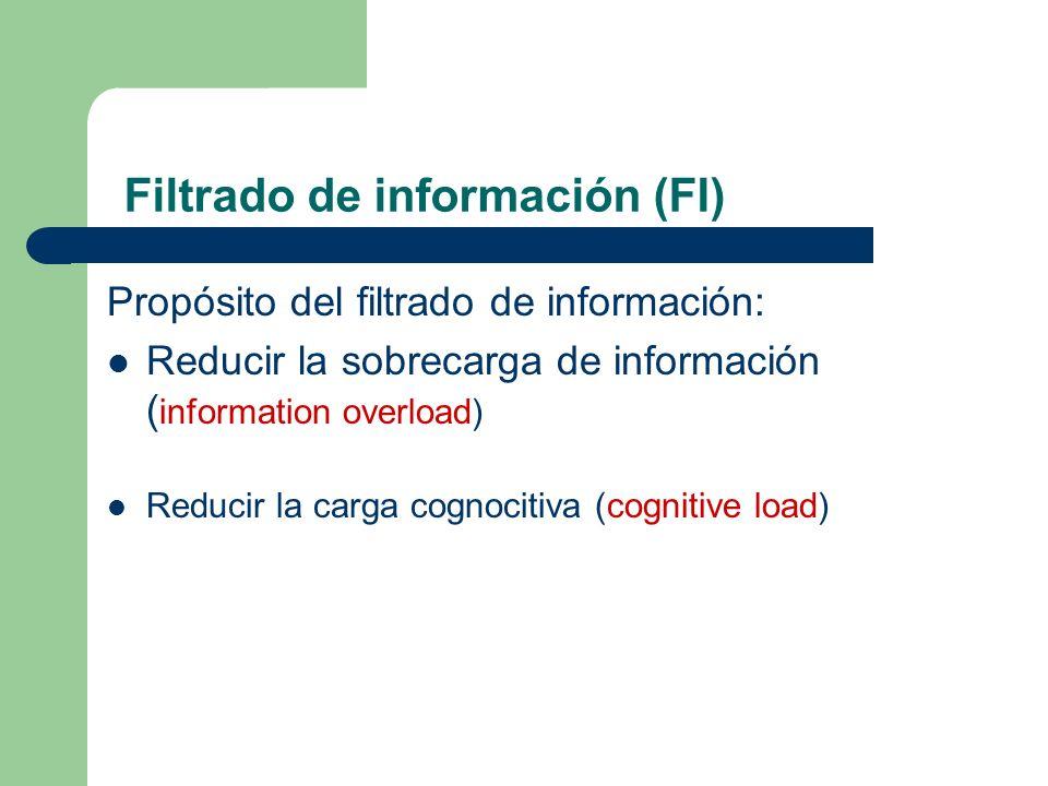 Filtrado de información (FI)