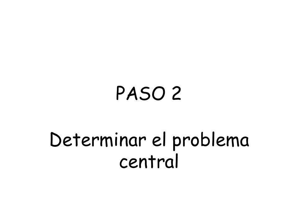 Determinar el problema central