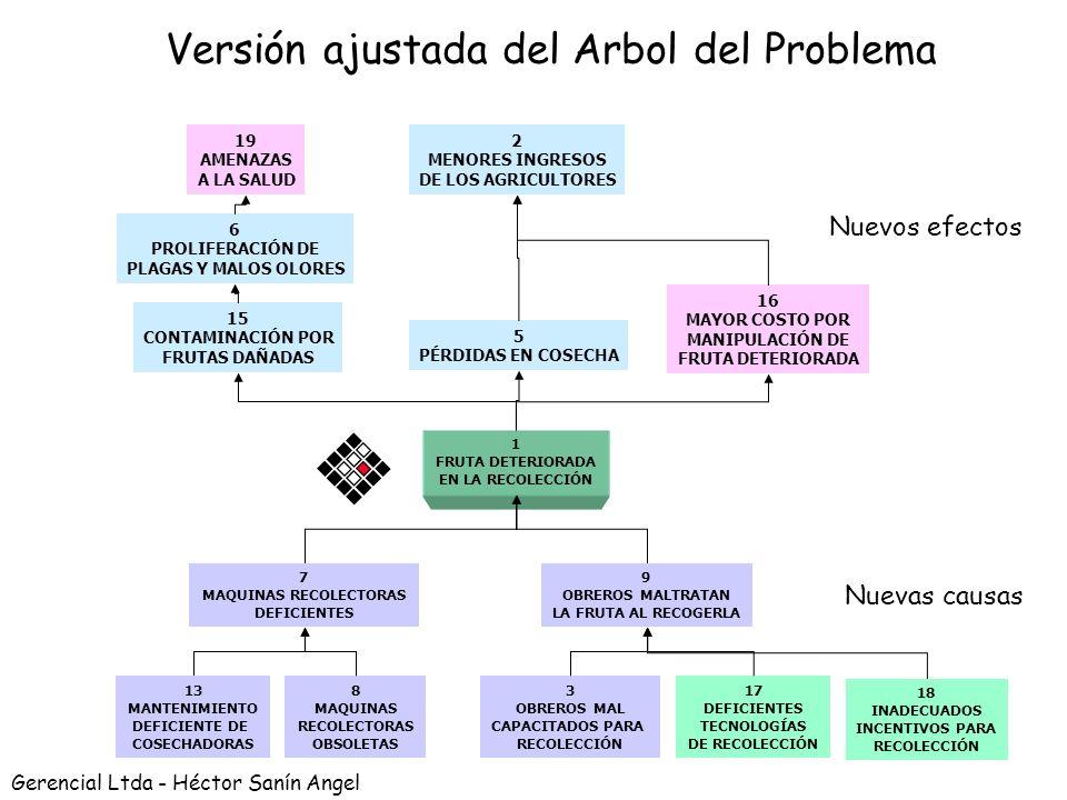 Versión ajustada del Arbol del Problema