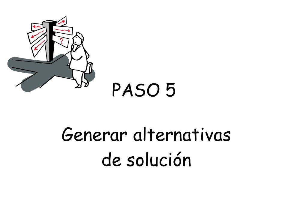 Generar alternativas de solución