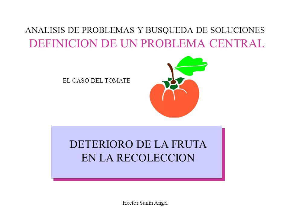 DETERIORO DE LA FRUTA EN LA RECOLECCION