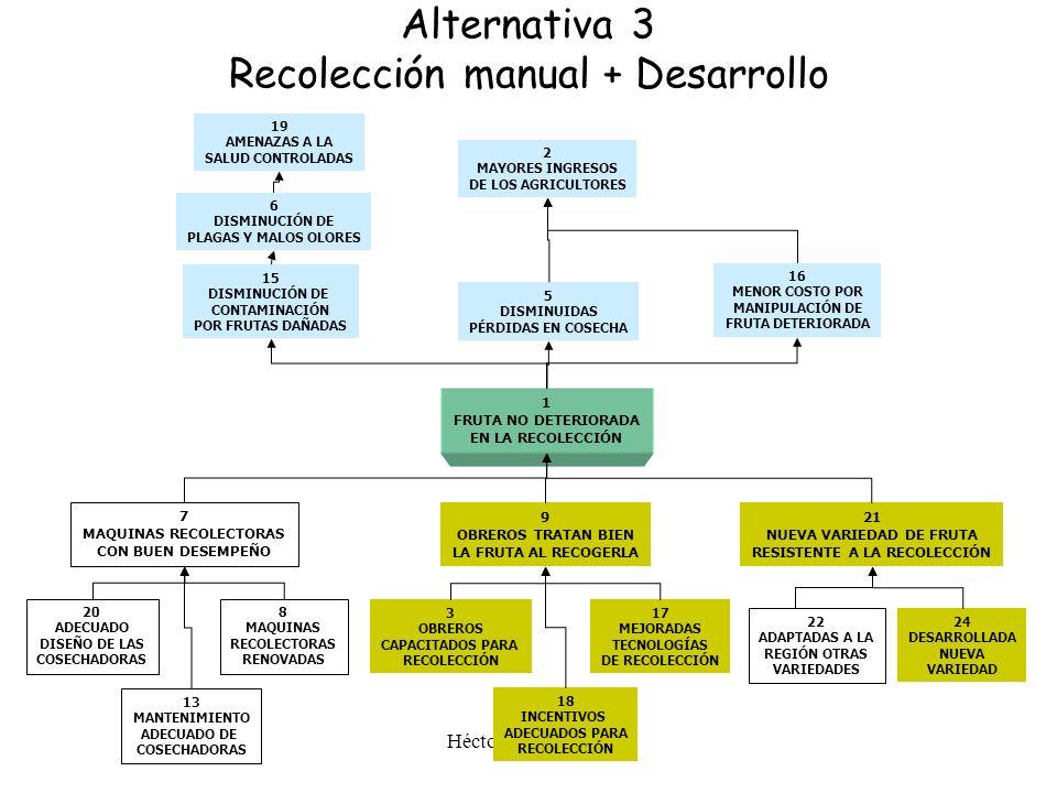 Alternativa 3 Recolección manual + Desarrollo