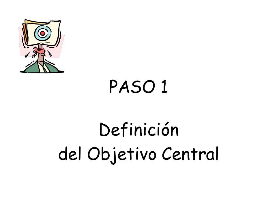 Definición del Objetivo Central