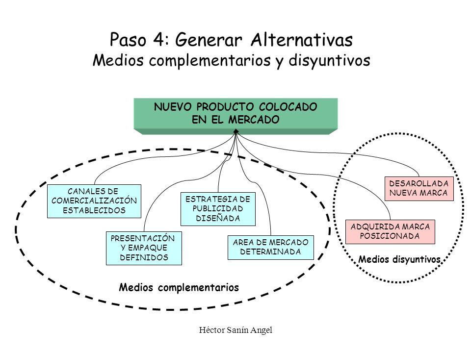 Paso 4: Generar Alternativas Medios complementarios y disyuntivos