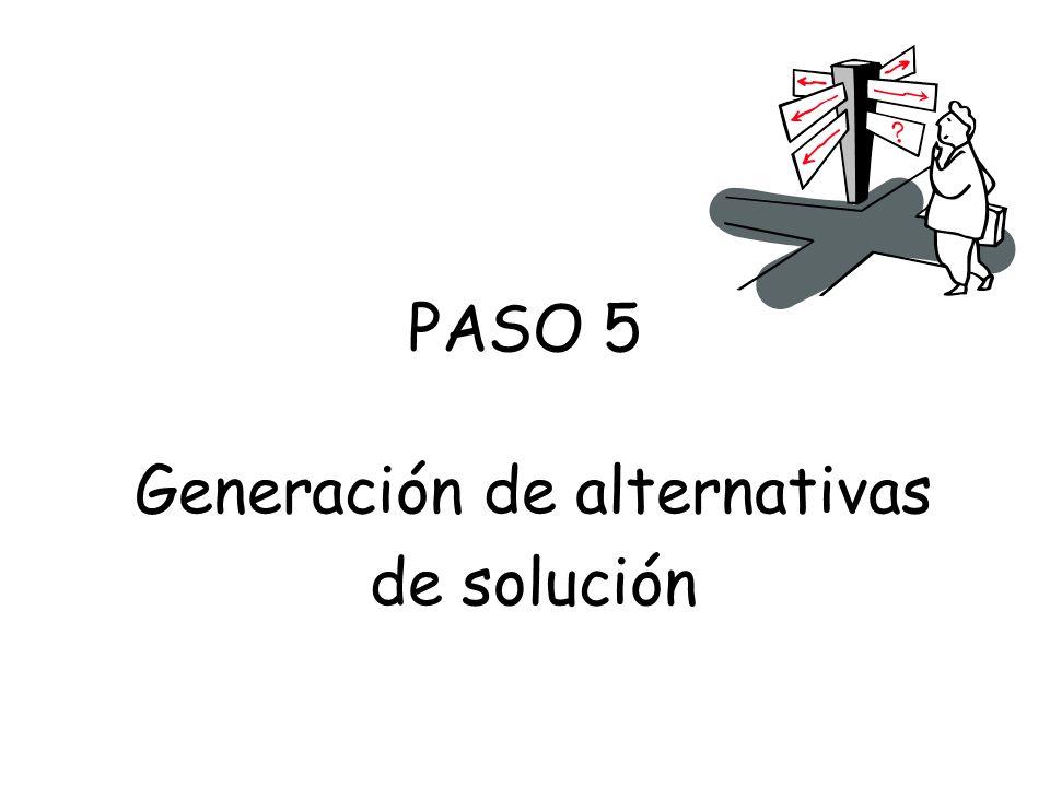 Generación de alternativas de solución