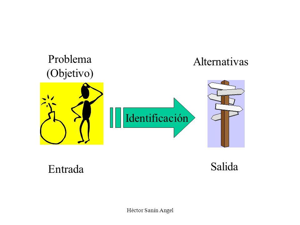 Problema Alternativas (Objetivo) Identificación Salida Entrada