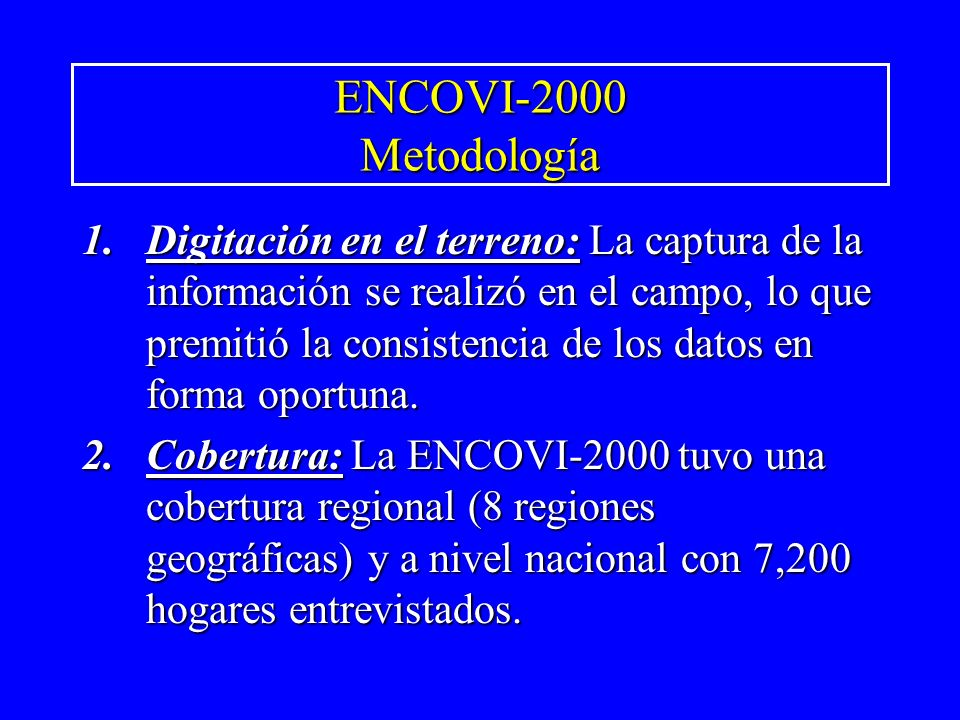 ENCOVI-2000 Metodología