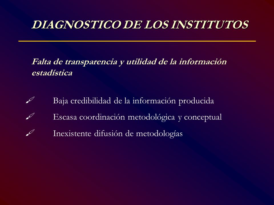 DIAGNOSTICO DE LOS INSTITUTOS