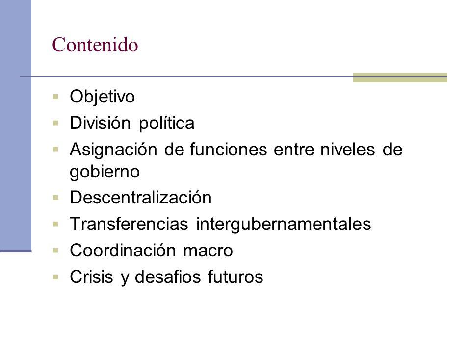 Contenido Objetivo División política