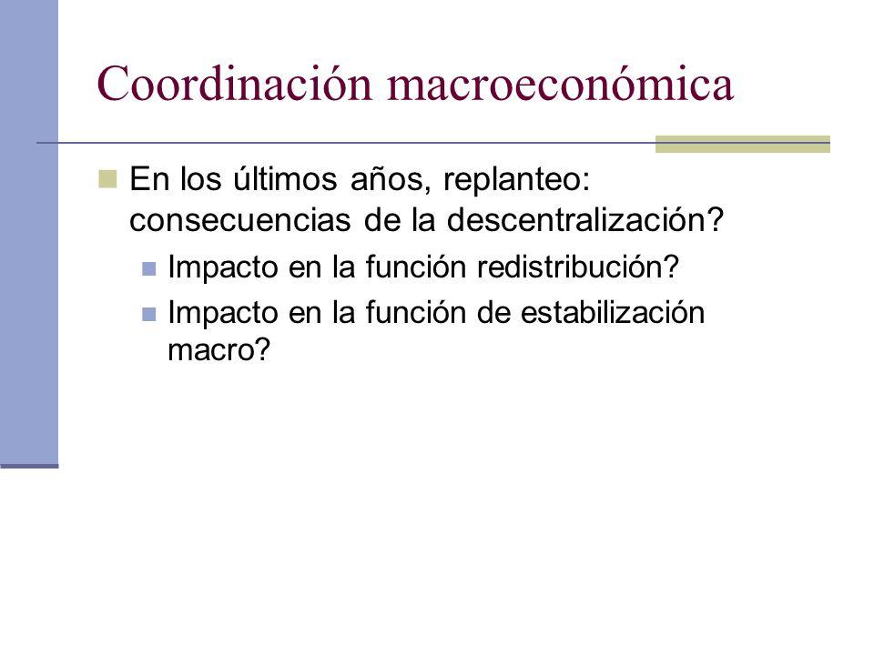 Coordinación macroeconómica