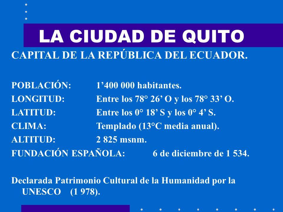 LA CIUDAD DE QUITO CAPITAL DE LA REPÚBLICA DEL ECUADOR.
