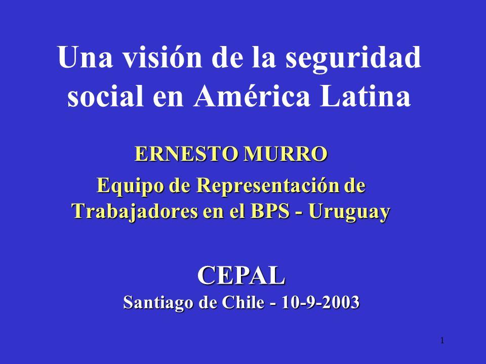 Una visión de la seguridad social en América Latina