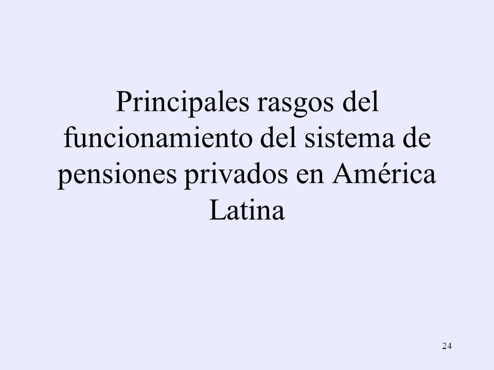 Principales rasgos del funcionamiento del sistema de pensiones privados en América Latina