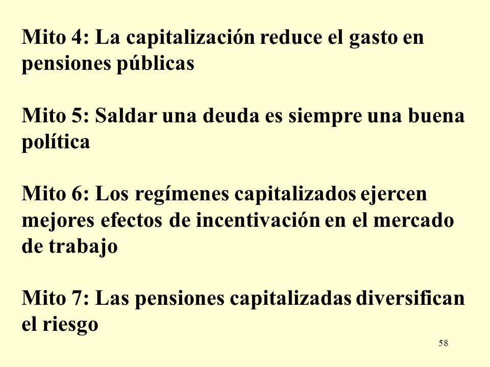 Mito 4: La capitalización reduce el gasto en pensiones públicas