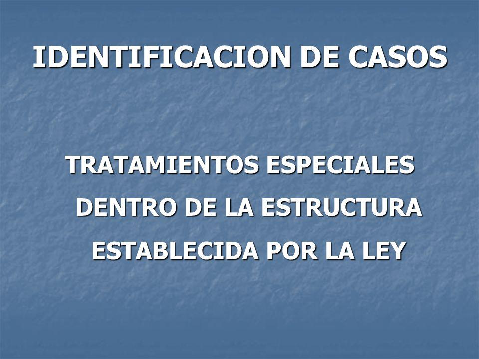 IDENTIFICACION DE CASOS