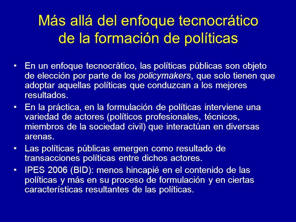 Más allá del enfoque tecnocrático de la formación de políticas