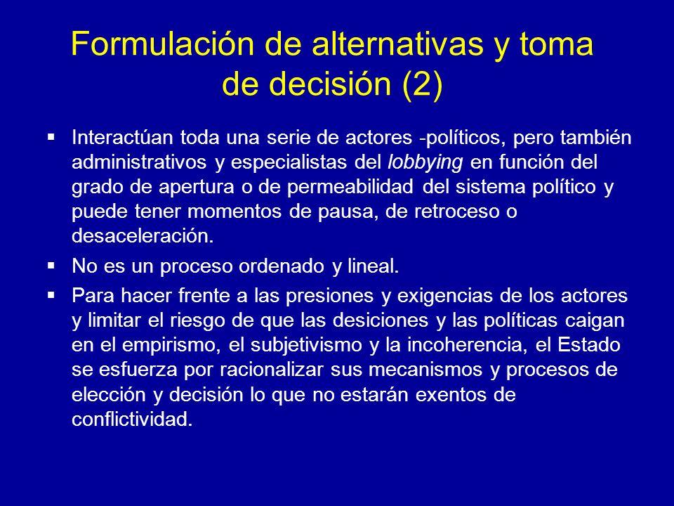Formulación de alternativas y toma de decisión (2)