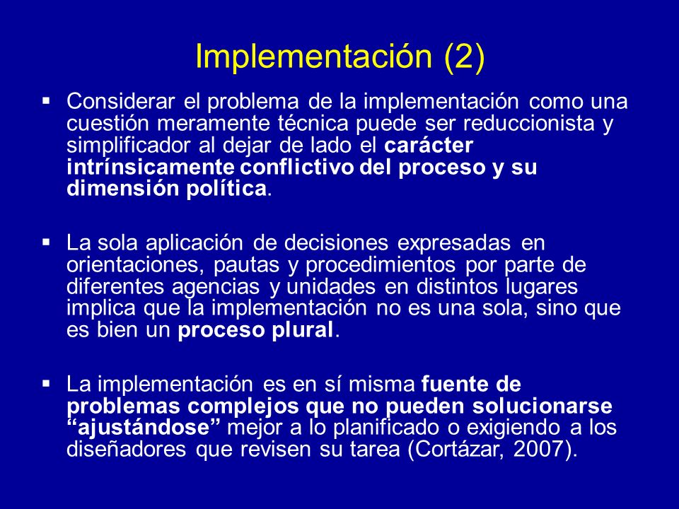 Implementación (2)