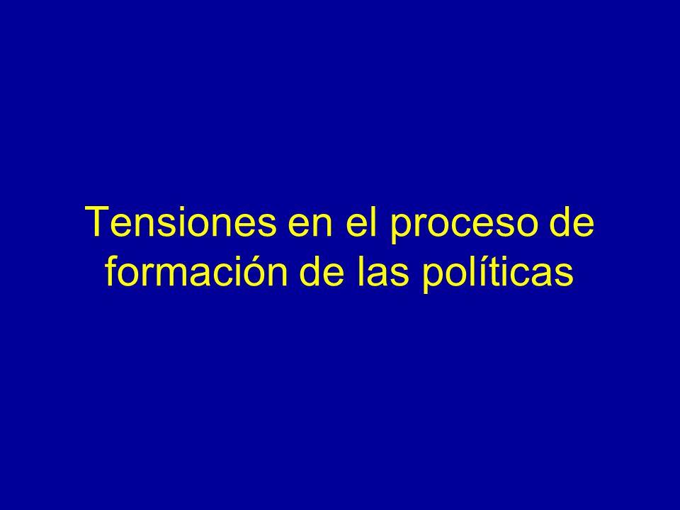 Tensiones en el proceso de formación de las políticas