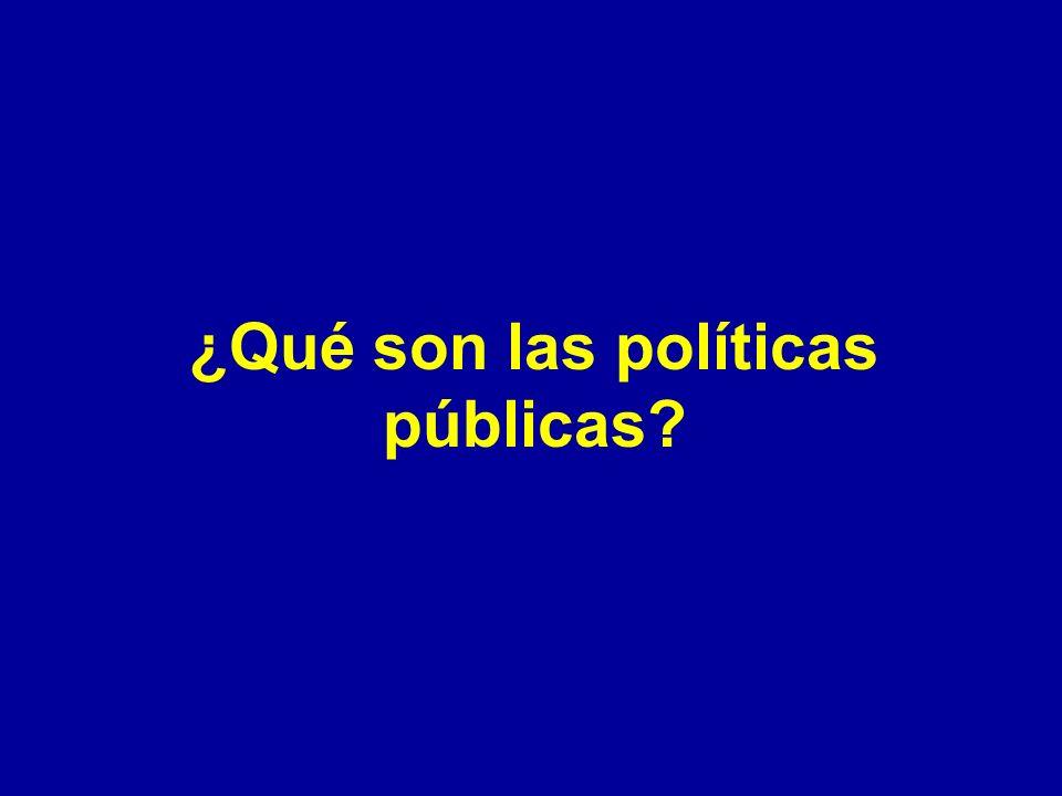 ¿Qué son las políticas públicas