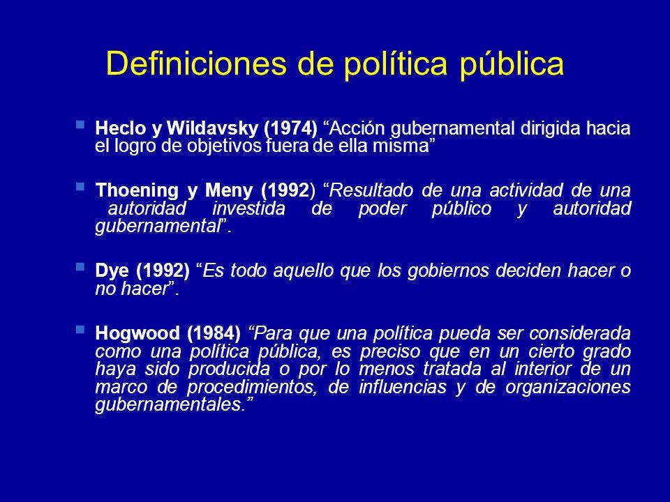 Definiciones de política pública