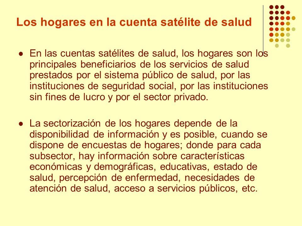 Los hogares en la cuenta satélite de salud