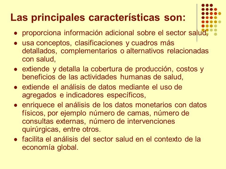 Las principales características son: